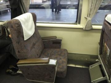 特急オホーツクのグリーン車座席