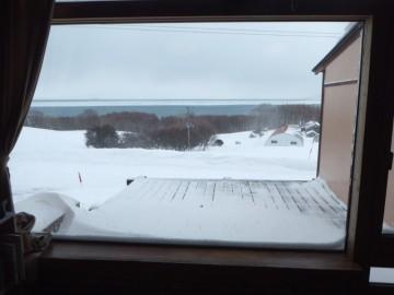 窓から見る流氷