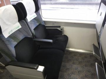つがるのグリーン車の座席