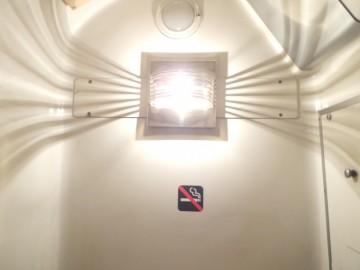 北越のトイレの照明