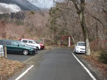 那岐山登山口にある駐車場