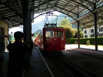 モンタンベールに行く登山列車