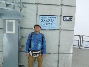 3842mの展望台