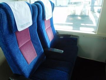 パノラマグリーンの座席