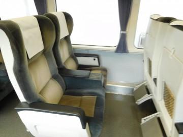 南風のグリーン車座席