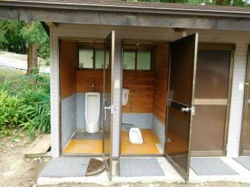 大向キャンプ場のトイレ