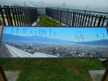 花鳥山展望台からの展望案内図