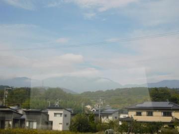 恵那山を望む