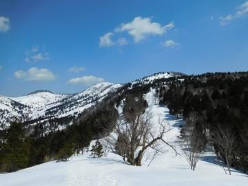 右から1192mピーク、ギラガ仙、恩原三国山。