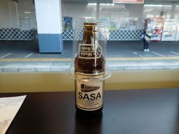 車内で買ったビール