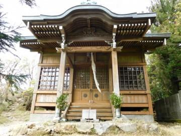 篠山山頂にある神社