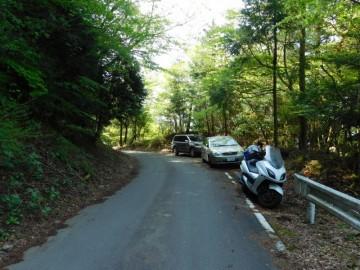 八面山登山口には駐車場がありません