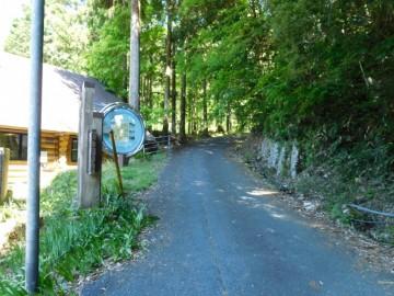 寂地林道の入口