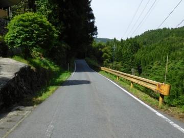 寂地峡付近の国道434号線
