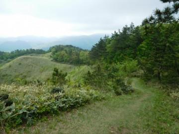 雲月山山頂から延びる登山道