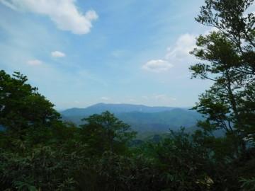 扇ノ山山頂から南側の眺め