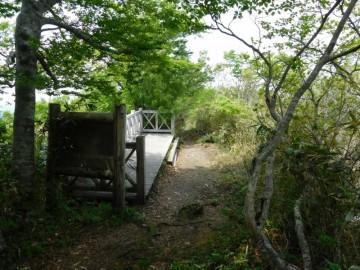 河合谷コースに下った先にある展望所