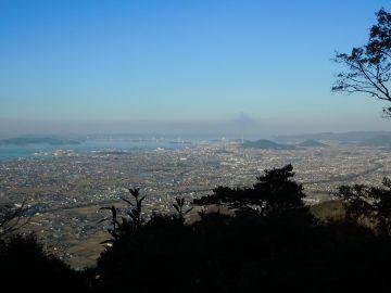我拝師山山頂からの北側の景色