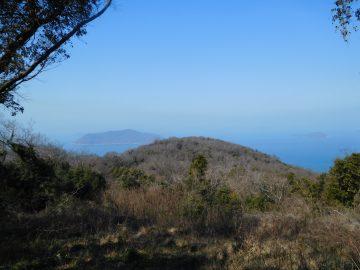 山頂展望所から見る佐柳島