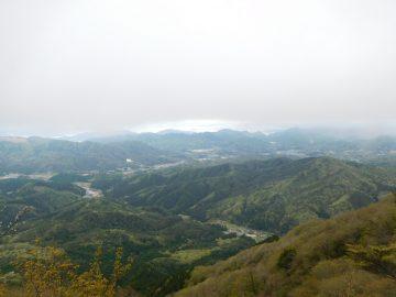 大峯山山頂から瀬戸内海方面の景色