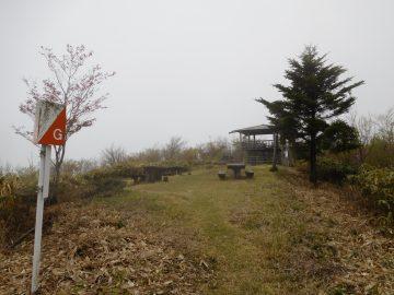 羅漢山山頂の様子