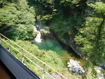 坪尻駅の所にある滝