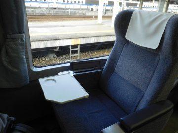 ひだのグリーン車の座席