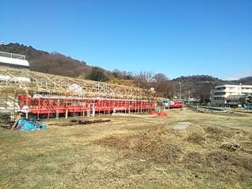 下津井駅跡で保存されている電車