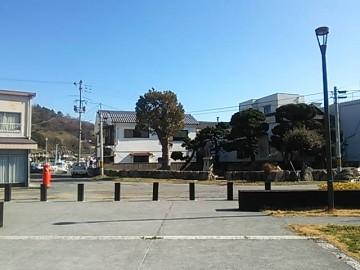 下津井駅前
