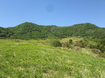 三原台から望む三原山