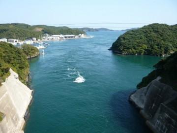 万関橋から東