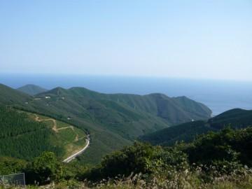 内山峠から東側の景色