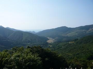 内山峠から西側の景色