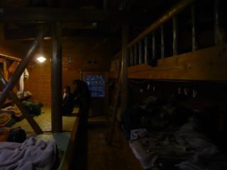 赤石小屋の部屋