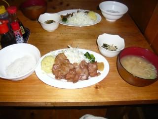 赤石小屋の食事