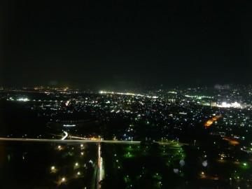 群馬県庁展望ホール夜景