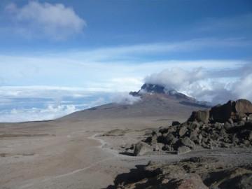キボハットから見るマウェンジ峰