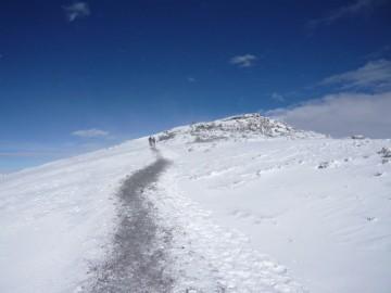 ウフルピークに向けての登山道