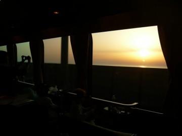 サロンデュノールから見る日本海の夕日