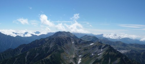 剣岳山頂より立山方面