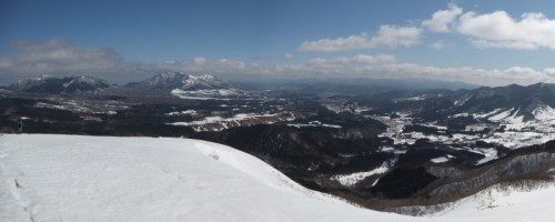 蒜山三座と蒜山高原の大パノラマ