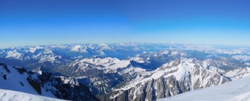 モンブラン山頂からの大パノラマ